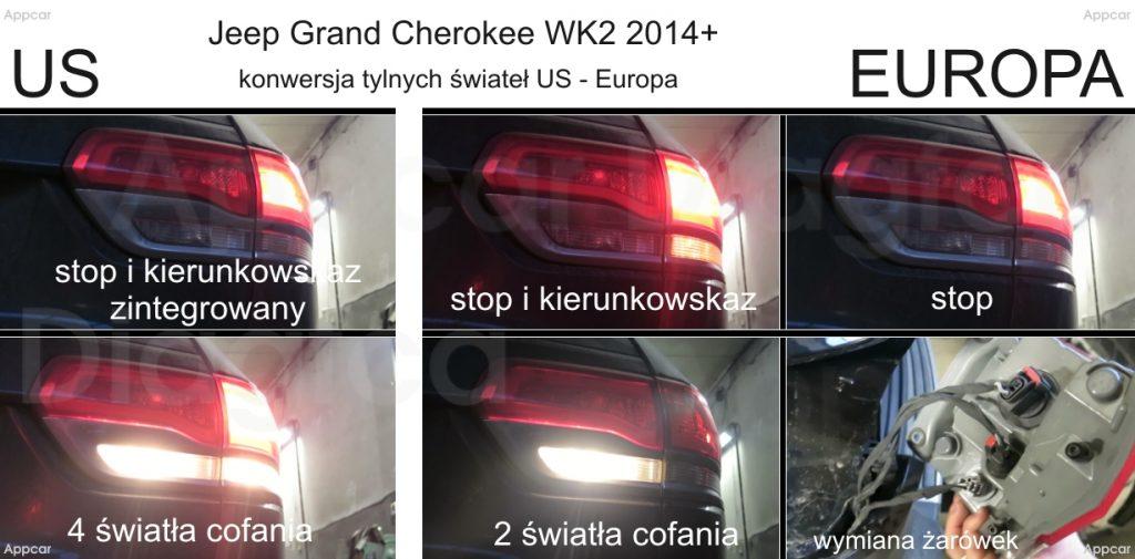 Konwersja programowanie świateł Jeep Grand Cherokee WK2