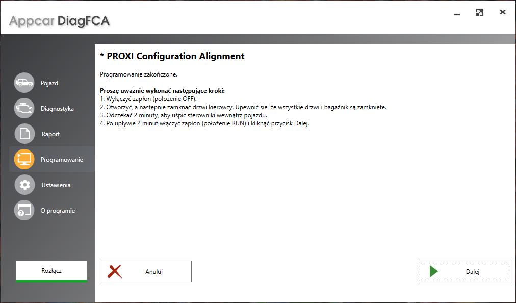 Appcar Proxi Configuration Alignment